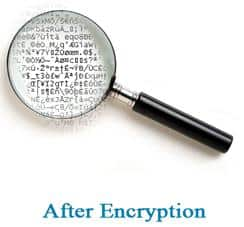 after encryption