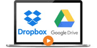 dropbox googlesrive with play button